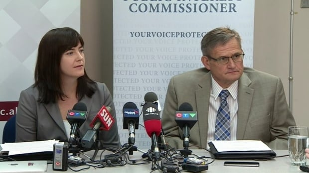 Information and Privacy Commissioner Jill Clayton, left, says the Alberta government must address a wide-ranging 'lack of respect' for freedom of information requests.