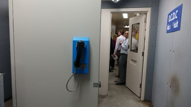 A phone inside the Ottawa-Carleton Detention Centre. Inmates can only make outgoing collect calls inside provincial jails, and the province gets a commission from each one of those calls.