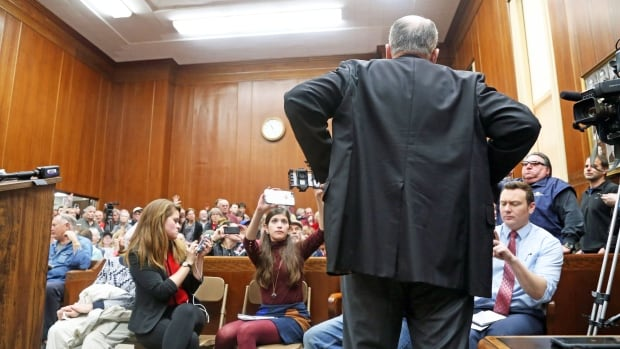 Iowa Republican Senator Chuck Grassley faces off against angry constituents in the rural community of Charles City in north-central Iowa on Thursday. Democrats grilled him on U.S. President Donald Trump's policies as a wave of similar town halls were being convened across the U.S.
