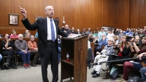 'Mad as heck' town hall-goers in anti-Trump rage as liberals seize their 'Tea Party moment'