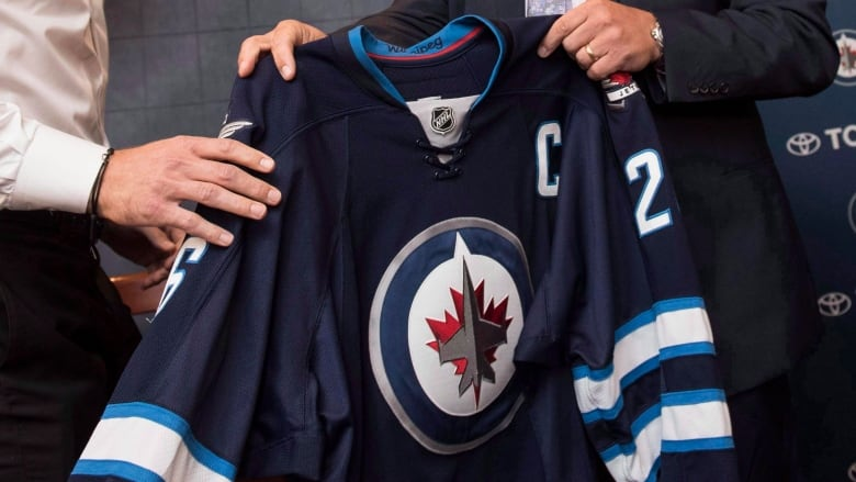 quality design 758e0 29142 Jets memorabilia destined for charity stolen from MTS Centre ...