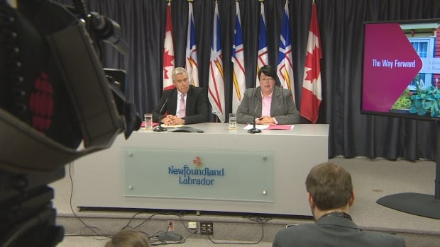 Dwight Ball and Cathy Bennett announce cuts
