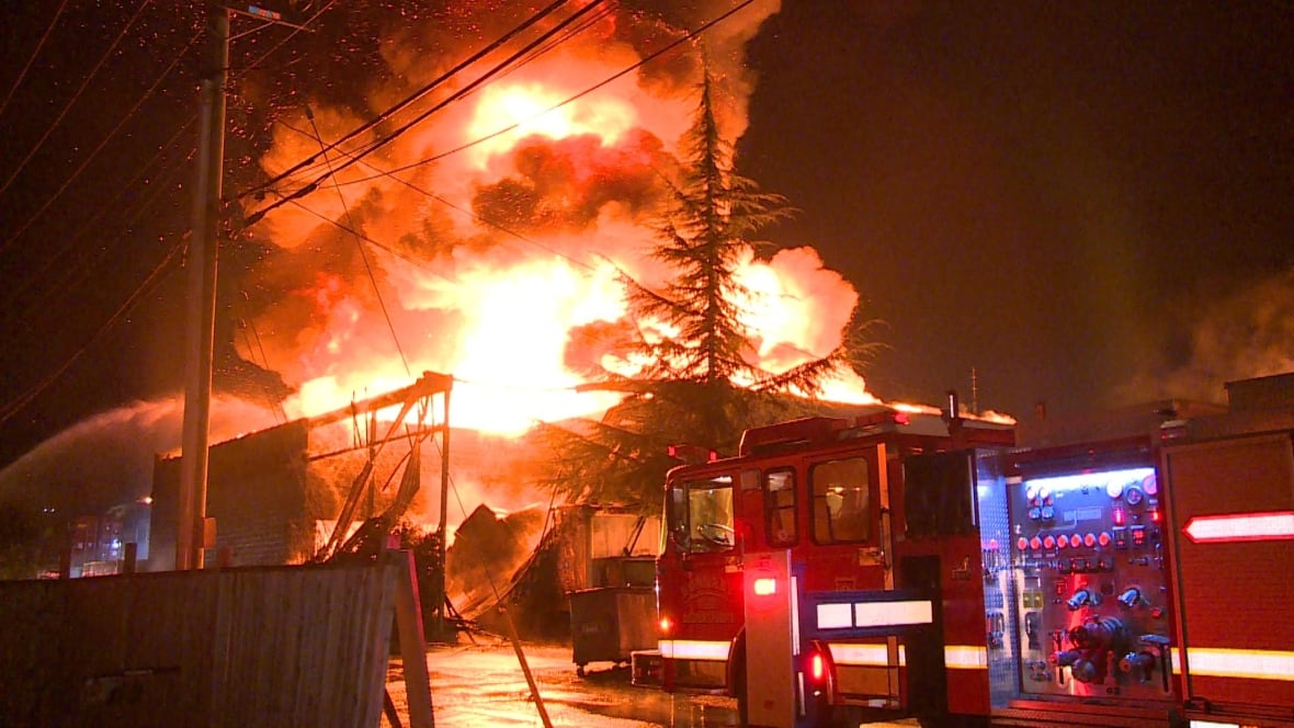 Large Fire Tears Through Furniture Warehouse In Burnaby British Columbia