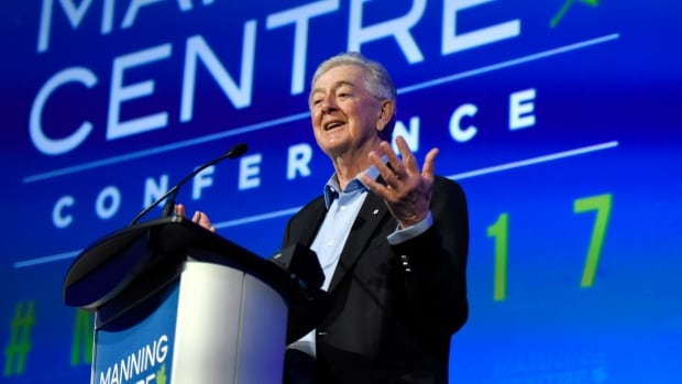 Preston Manning speaks at the opening of the Manning Centre conference on Friday.