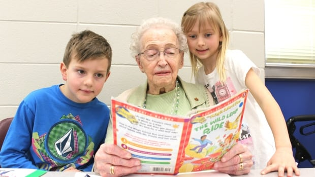 Gertie Willams, 102, still volunteers every week at Belvedere Parkway School in Bowness. A recent study out of the U of C suggests seniors who volunteer are less likely to develop dementia.