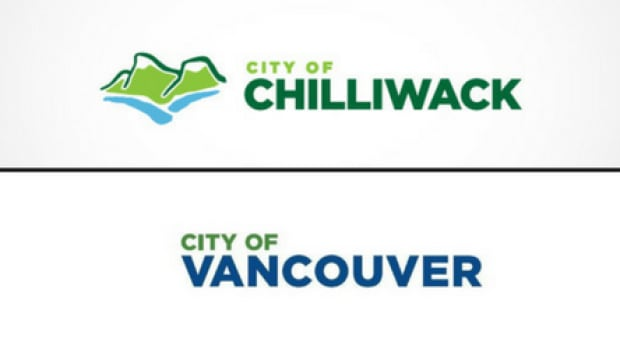 The City of Chilliwack logo was commissioned in 2011. The new City of Vancouver wordmark was approved by council earlier this week.