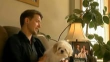Daniel Corbett with late father's dog, Bodie
