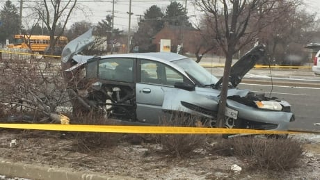 Eglinton Avenue East crash