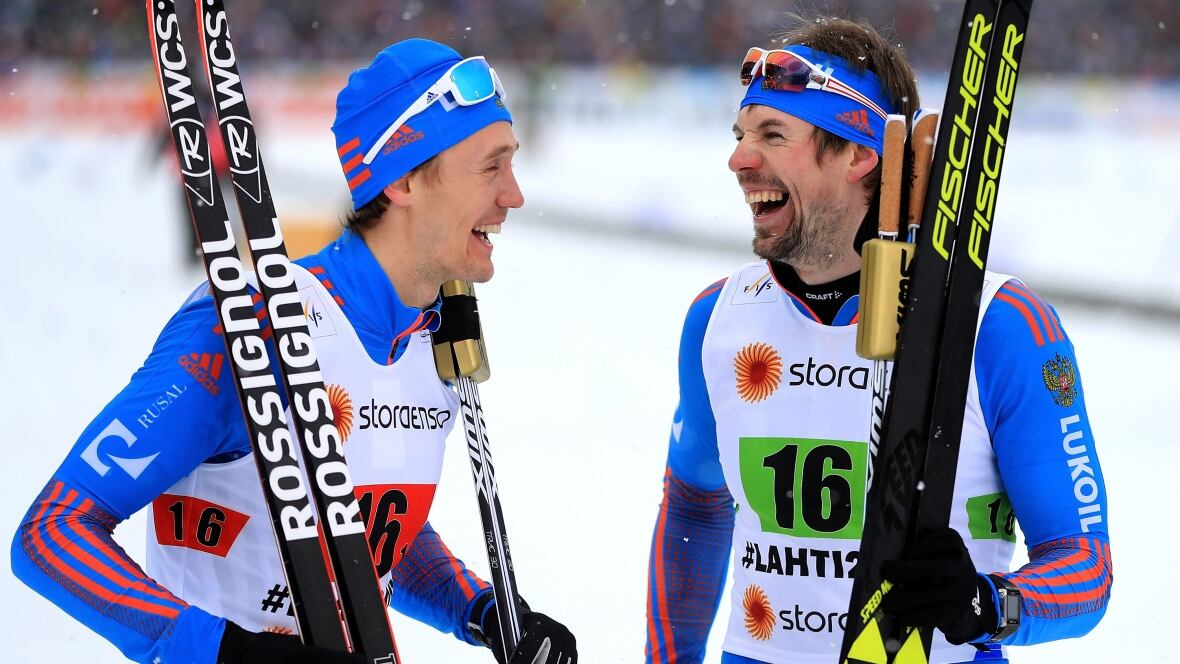 Late crash allows Russians to claim gold in cross-country team sprint