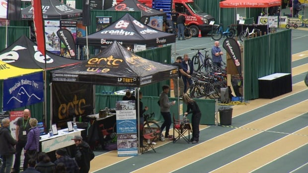 Bike lovers cycled through the University of Alberta Butterdome for the Edmonton Bike Show Sunday.