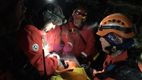 Injured Comox Valley hiker rescued in heavy snowfall, steep terrain