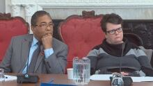 Liberal MLAs Tony Ince and Joanne Bernard at committee