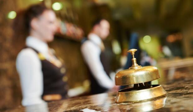 Hotel concierge reception