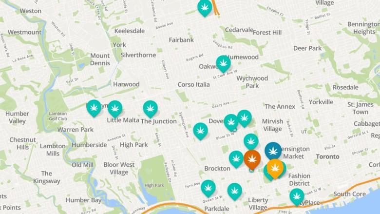 Toronto Subway Map App.Ttc Ad For Weedmaps App Showing Pot Shop Listings Lights Up