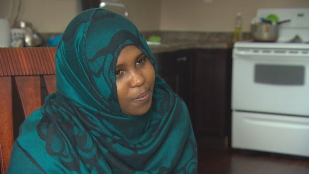 Sitti Ali, 28, is a refugee from Djibouti who crossed the Emerson border on foot in November. She is now on social assistance and has made room in her house for other refugee claimants who arrived in Manitoba last week.