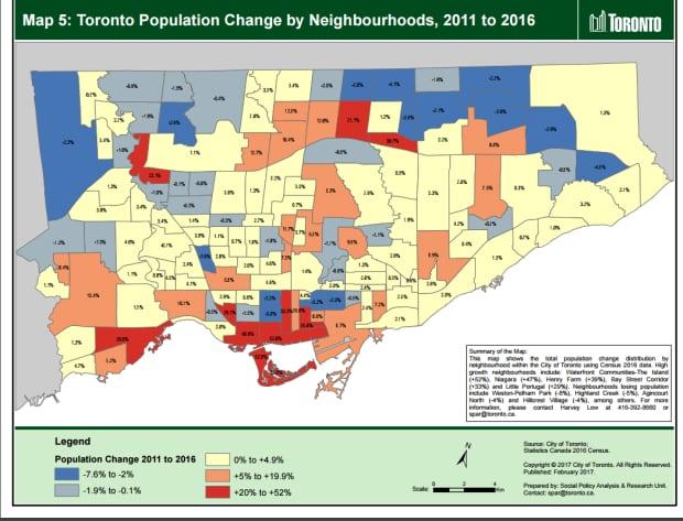 Toronto Population Map