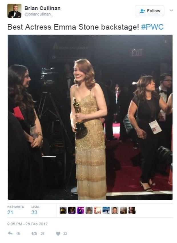 Oscars tweet