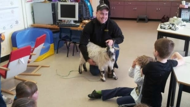 Craig Dingwell is one of about 50 volunteers across Prince Edward Island who visited Grade 3 classrooms to talk about agriculture.