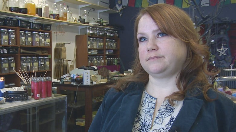0163f428bb16 Dominique Smith says she s had to clean spit and urine off of the door and  windows of her shop countless times over the past few years. (Holly  Caruk CBC)