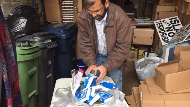 Quazi Islam, who distributes copies of the Quran, flyers and books on Islam at St. Lawrence Market, says his table was doused with urine last Saturday.