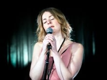 Amelia Curran performing live at the q studios in Toronto, Ont.
