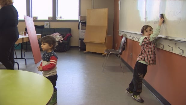 Children are welcome at a community English class for newcomers in Metro Vancouver.