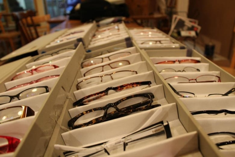 Le Bonhomme à lunettes carries hundreds of glasses frames, ordered from a  Chinese company in bulk. (Le Bonhomme à lunettes Facebook ) f217e3ab878b