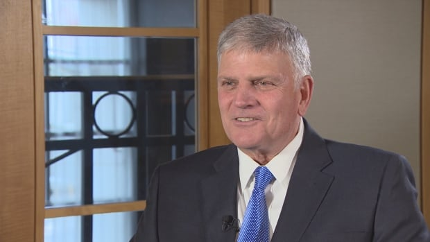 Franklin Graham, son of famed televangelist Billy Graham, will speak for free at Rogers Arena in Vancouver at an event called Festival of Hope from March 3 to 5.