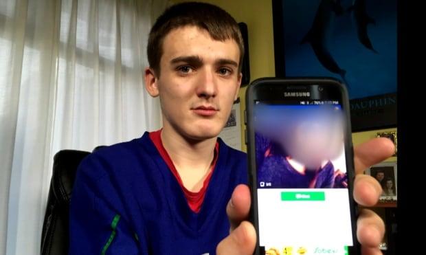Jaxson with phone