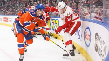 Oilers Survive Late Red Wings Push To Claim Victory