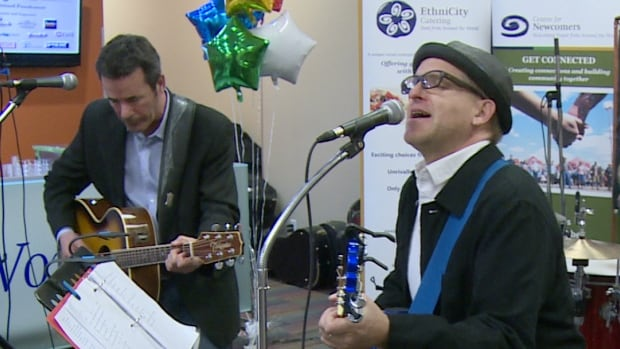 Members of the Reuben Kincaids perform at the Centre For Newcomers second annual fundraiser Saturday.