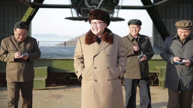 North Korea leader Kim Jong-un visits Sohae Space Centre in Cholsan County, North Pyongan province for the testing of a missile on April 9, 2016. South Korea's military said its neighbour nation fired an 'unidentified projectile' early Wednesday local time, just as leaders from the U.S. and China are to meet to discuss the region later this week.