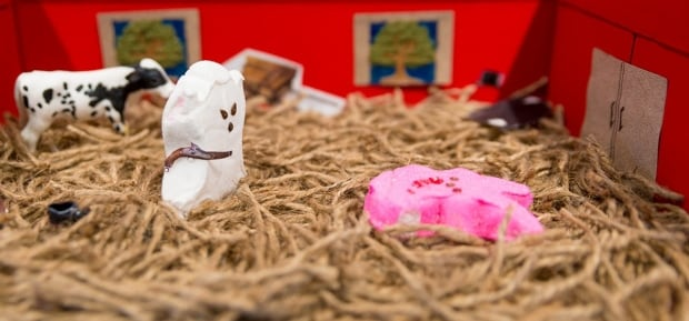 The Red Barn Murder in Peep form