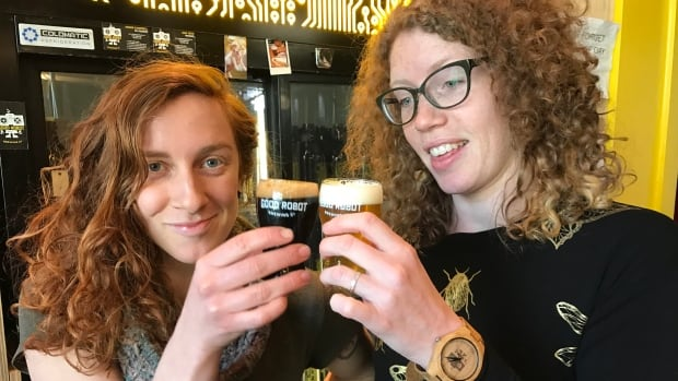 Erica Fraser and Kelly Costello with Good Robot Brewing in Halifax. Costello said a move by the Craft Brewers Association of Nova Scotia to promote equality made her feel as though the community had her back.