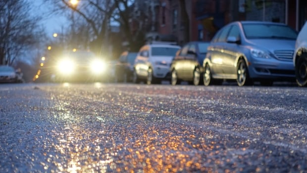 A freezing rain warning has been issued for most of southwestern, central and eastern Quebec, beginning Monday afternoon and continuing into Tuesday.