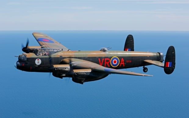 Canada's Lancaster bomber with VRA KB726 paint.