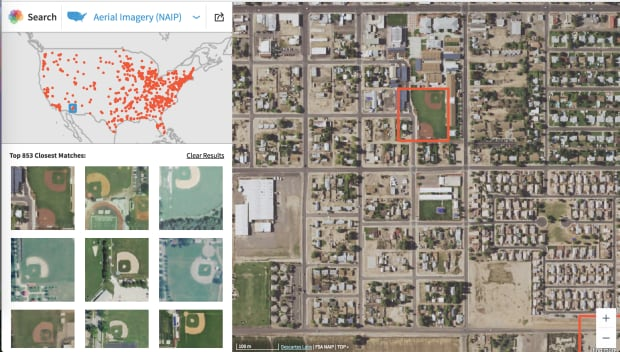 Descartes Labs GeoVisual search satellite imagery