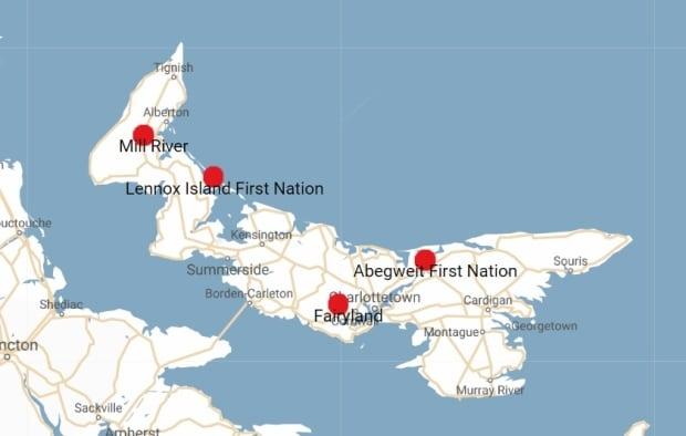 P.E.I. Map