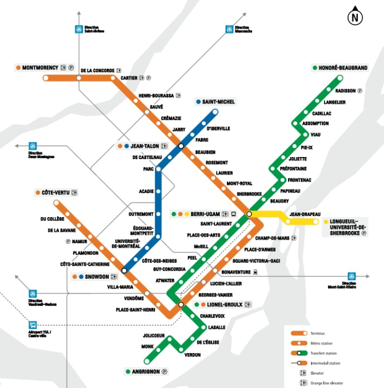 Stcum Metro Map.Stm Metro Accessibility Plan Will Mean More Elevators Ramps Cbc News