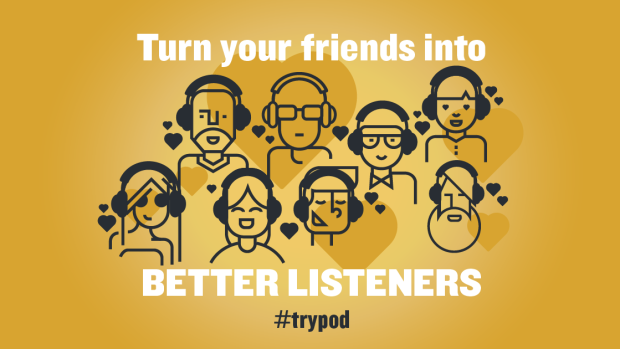 "Trypod 2017 hopes to galvanise fans of podcasts to share their love of listening with friends or family who may say ""What's a podcast?"""