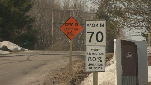 Route 114 detour