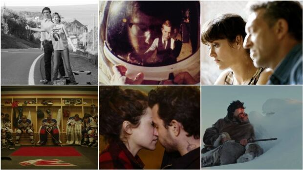 Six movies up for the 2017 Canadian Screen Awards (from top left): Weirdos, Operation Avalanche, It's Only the End of the World, Hello Destroyer, The Other Half, Searchers.