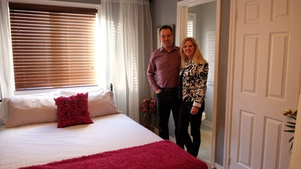 Tim Grimes and Catherine Pawlick-Grimes are among the first families to open their spare bedroom to a homeless young person as part of the Nightstop program.