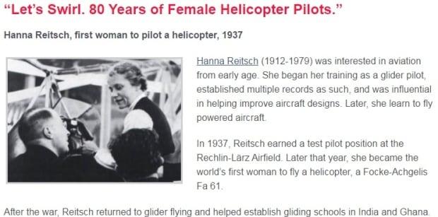 Hanna Reitsch bio on WOAW website