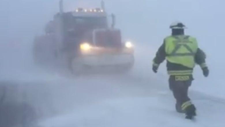 Firefighters blizzard