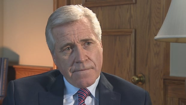 Newfoundland and Labrador Premier Dwight Ball blames the architects of the original Muskrat Falls deal for its current fiscal problems.