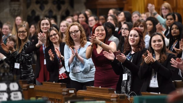The Daughters of the Vote event, organized by Equal Voice Canada, brought 338 young women representing every riding across Canada to take a seat in the House of Commons on Wednesday.
