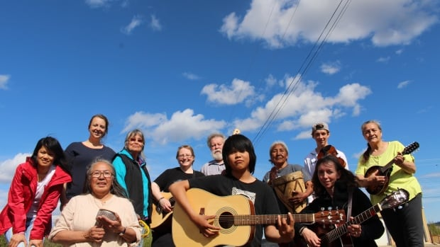 The Hummingbirds is a band from Tsiigehtchic, N.W.T., and they're hoping to get past a copyright obstacle to release their new album One Weekend in June.