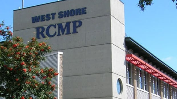 A West Shore RCMP police dog was used in the search for a suspect Sunday night.