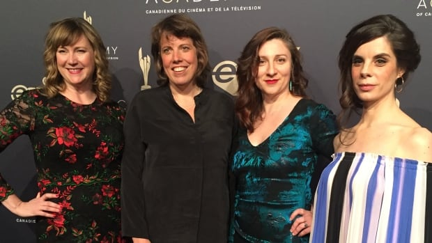 The core four from CBC's Baroness von Sketch Show — Jennifer Whalen, Carolyn Taylor, Aurora Browne and Meredith MacNeill. The comedy nabbed three awards on the second night of the Canadian Screen Awards, including best variety or sketch comedy program or series.